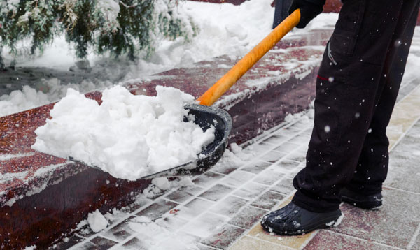 cleaning up snow