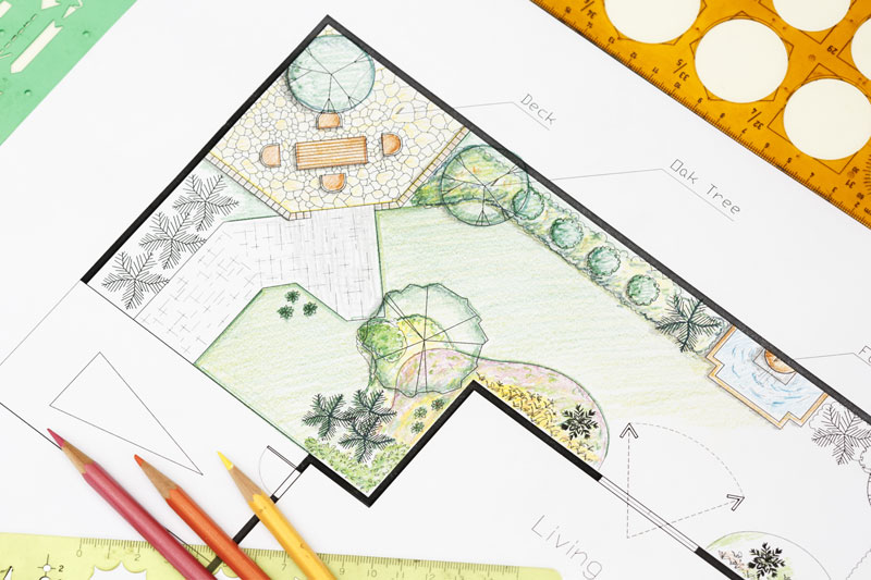 Landscape architect design garden plan