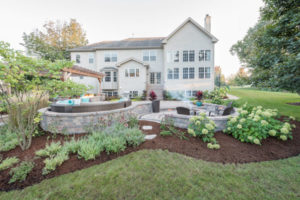 large house with new landscaping