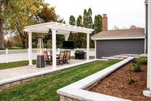 upscale landscaping in a backyard