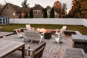 furnished patio with fire pit