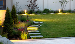 outdoor lighting in yard
