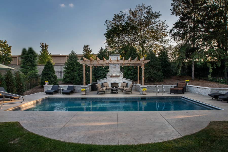 large backyard with pool
